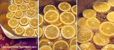 Meyer Lemon Slices Boiling in Sugar Syrup
