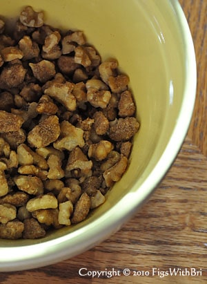 chopped walnuts mixed with streusel ingredients