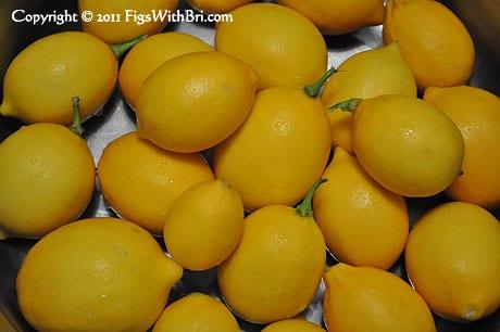 meyer lemons ready for jam or jelly