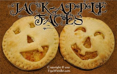 j2 ack o' lantern halloween fruit & almond filled mini pies