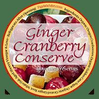 label for cranberry ginger conserve (relsih)