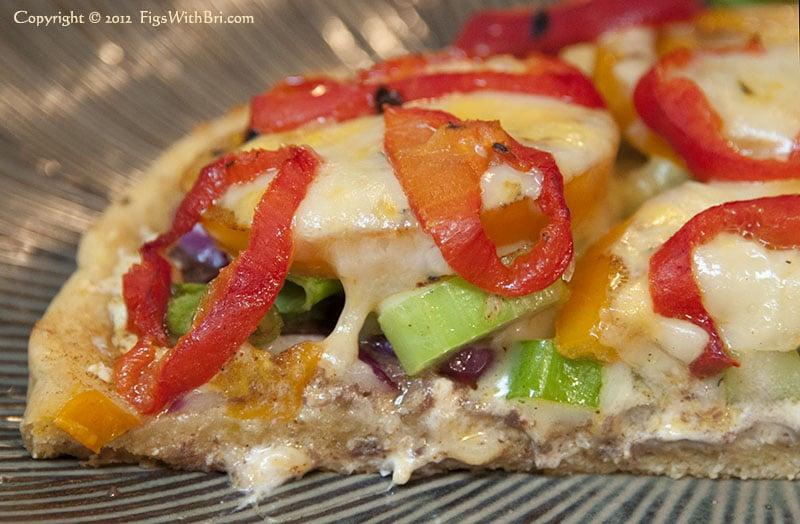 slice of yummy homemade organic pizza