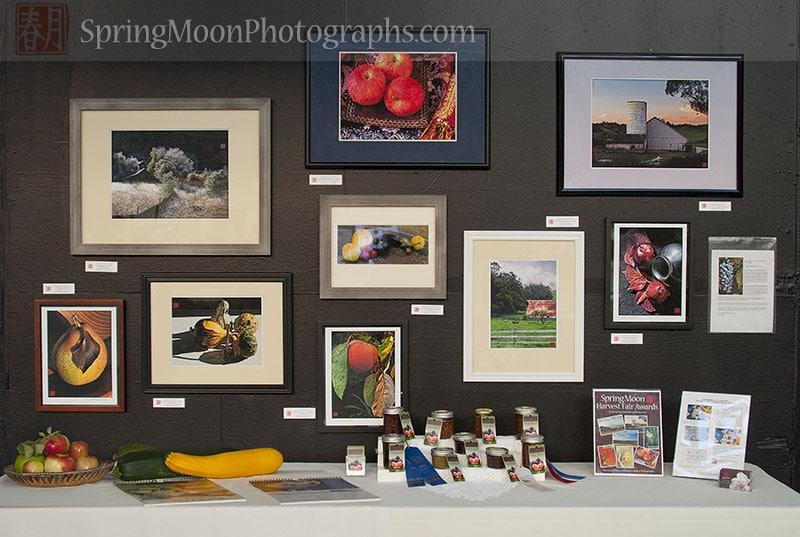 farm produce art prints gourmet preserves heirloom seed expo display