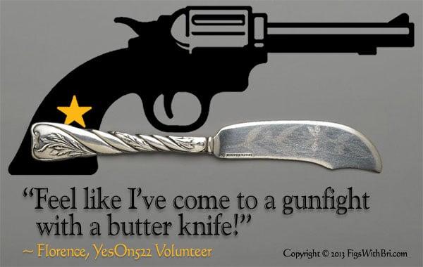yeson522 gunfight pistol butter knife graphic