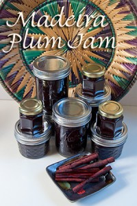 cinnamon spiced madeira plum jam in jars