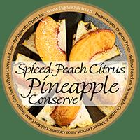 spiced peach pineapple preserves label