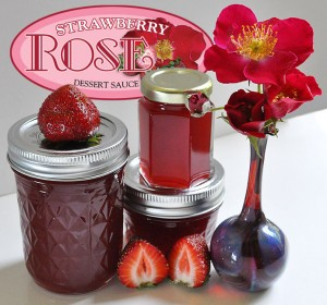 artisan crafted delicious strawberry rose dessert sauce