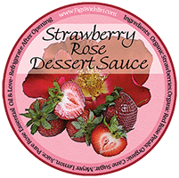 strawberry rose dessert sauce label