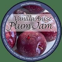 vanilla anise plum jam label