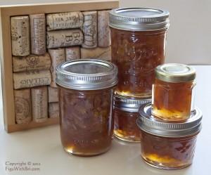 jars of lychee and meyer lemon conserve