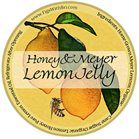 icon meyer lemon and honey jelly label