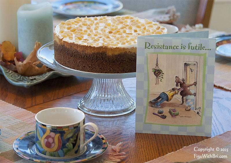 pumpkin cheesecake makes a handsome dessert