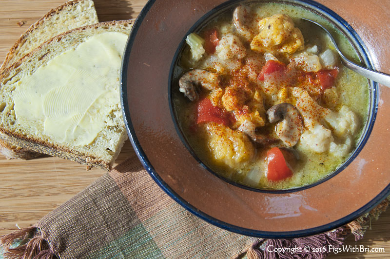 savory vegan cauliflower butternut squash soup